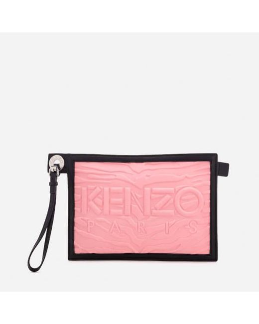 KENZO - Pink Women's Kanvas A5 Pouch - Lyst