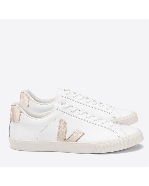Veja White Esplar Leather Trainers