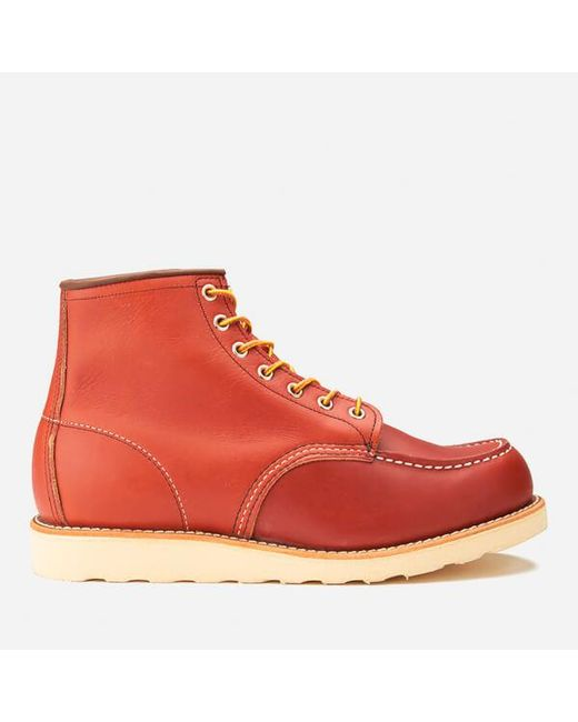 Red Wing - Red Men's 6 Inch Moc Toe Leather Lace Up Boots for Men - Lyst