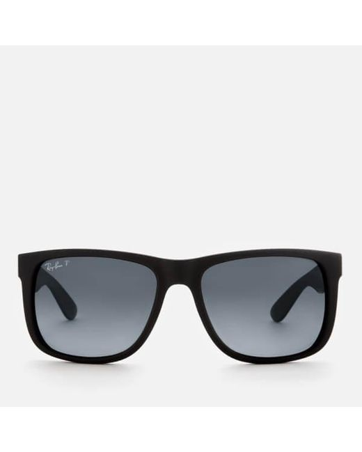 1a1bfd5b57ef Ray-Ban - Black Rayban Men's Justin Square Frame Sunglasses for Men ...