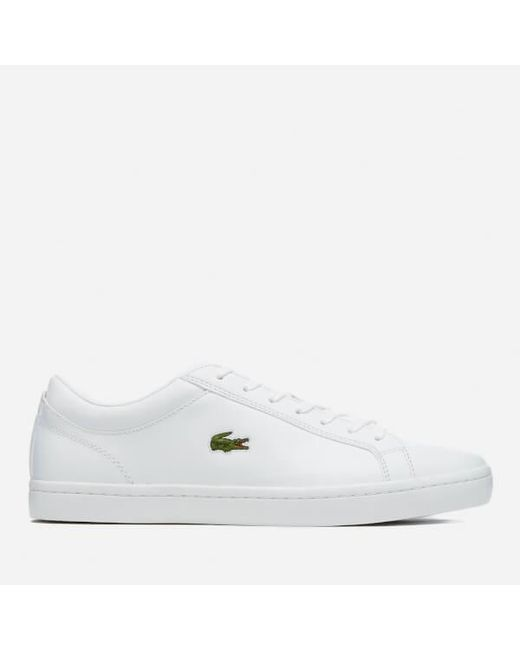 Lacoste Men's Straightset Bl 1 Leather Trainers - - UK 10 uZ0Ak5ndw1