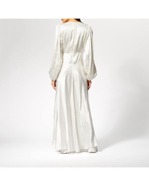 4d876545 ... Ganni - White Cameron Maxi Dress - Lyst ...