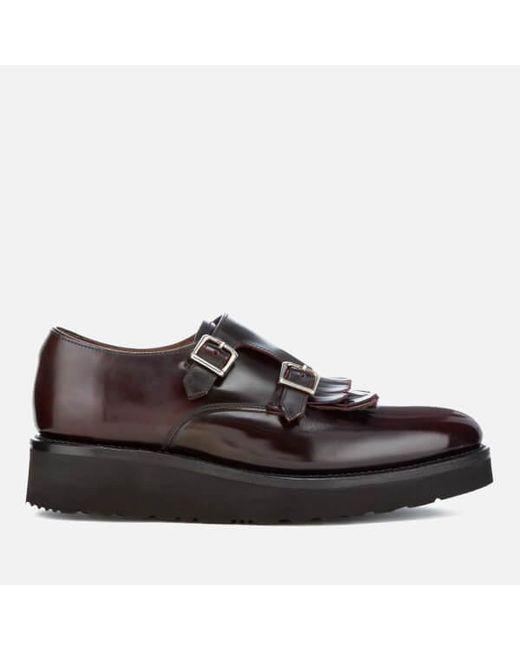 GRENSON - Multicolor Women's Audrey Leather Double Monk Shoes - Lyst