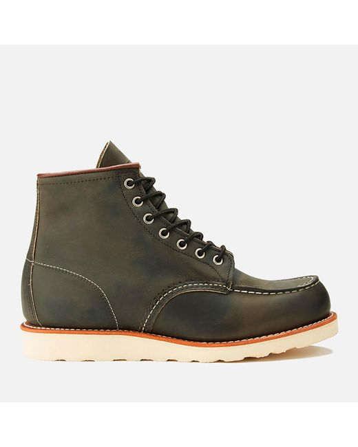 Red Wing Gray 6 Inch Moc Toe Leather Lace Up Boots for men