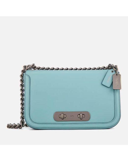 3ebe35266c28 COACH - Blue Women s Swagger Shoulder Bag - Lyst ...