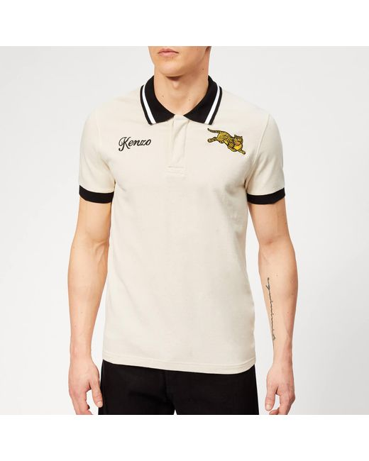 f2809dfc KENZO - Natural Tiger Logo Polo Shirt for Men - Lyst ...