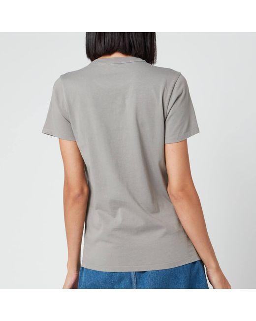 Maison Kitsuné Gray T-shirt Handwriting