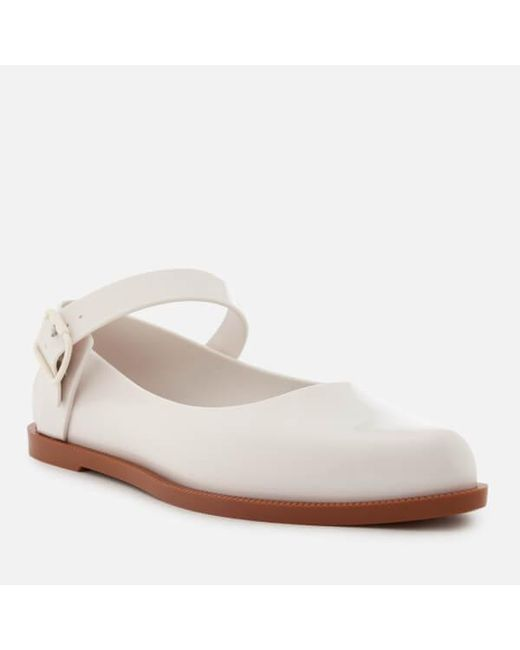 Lyst - Melissa Mary Jane Flat Shoes in White - Save 56.19047619047619% a6b1c18f021b