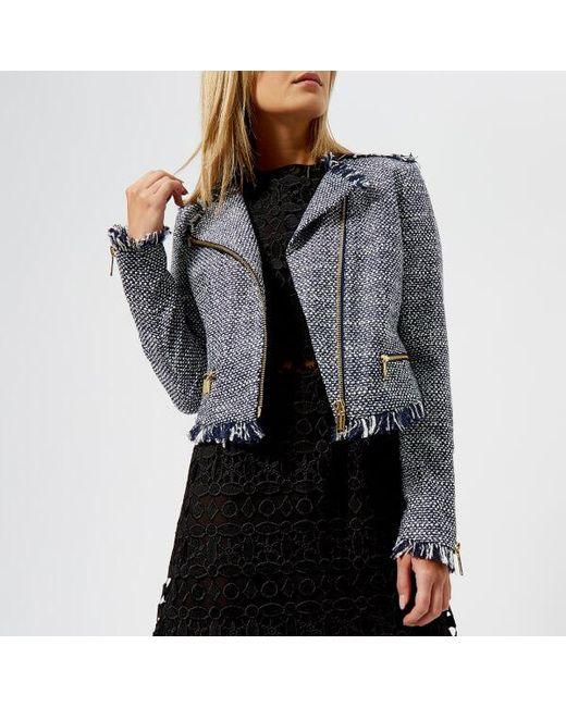 MICHAEL Michael Kors - Blue Women's Tweed Jacket - Lyst