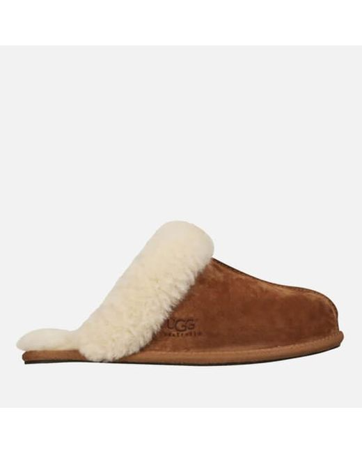 Ugg - Brown Women's Scuffette Ii Suede Slippers - Lyst