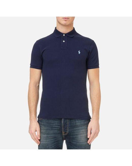 Polo Ralph Lauren - Blue Men's Slim Fit Polo Shirt for Men - Lyst
