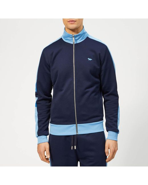 Maison Kitsuné Blue Technical Zipped Sweatshirt for men