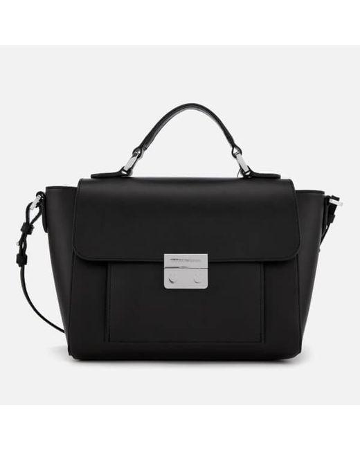 Emporio Armani - Black Women s Top Handle Small Tote Bag - Lyst ... ca7d89695f