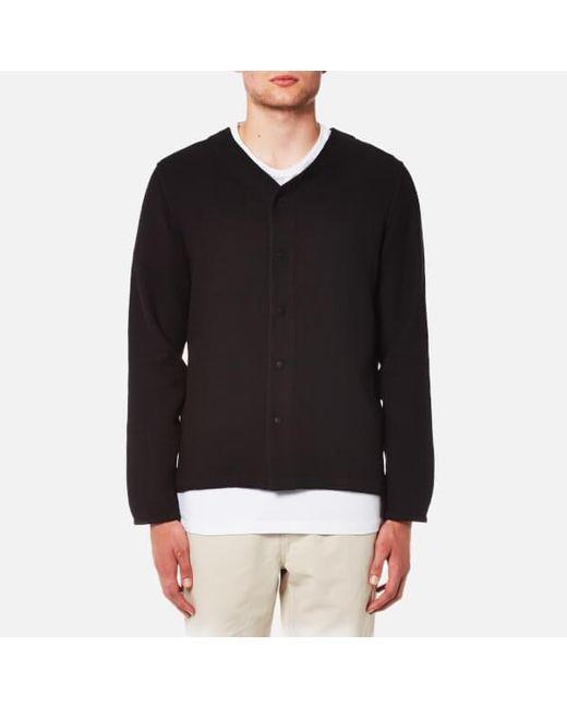 Folk - Black Men's Long Sleeve Bowling Shirt for Men - Lyst