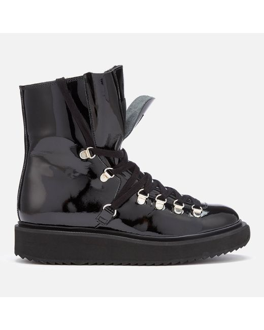 KENZO Black Alaska Patent Leather Boots