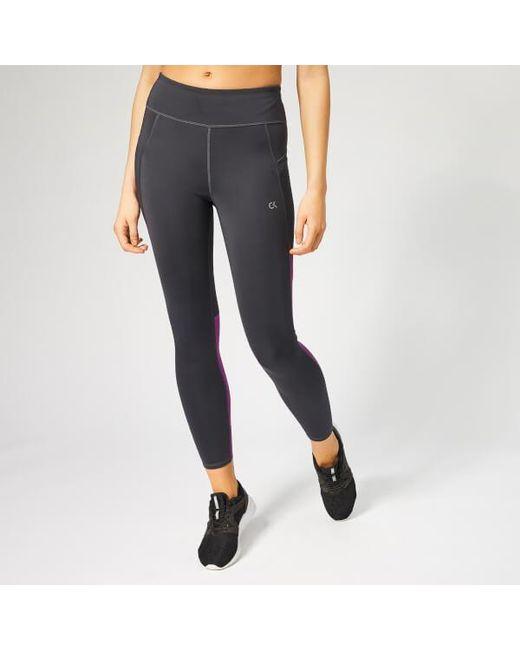 Calvin Klein Women s 7 8 Tights in Gray - Lyst b568d7906d9aa