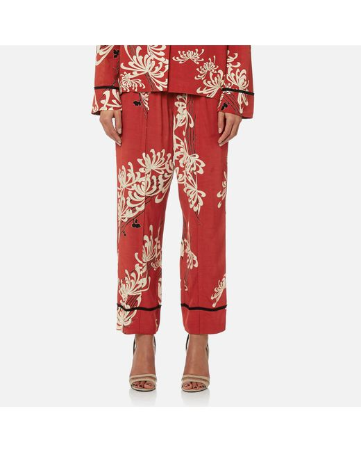 McQ Alexander McQueen - Red Piping Pin Track Trousers - Lyst
