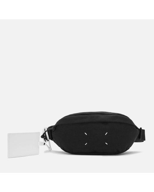 Maison Margiela Black 4-stitches Zip-around Bumbag for men