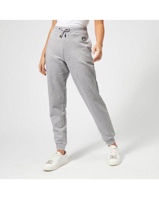 ... 6a312 d0090 KENZO - Gray Womens Light Cotton Molleton Sweatpants ...  online shop ... d0381c695