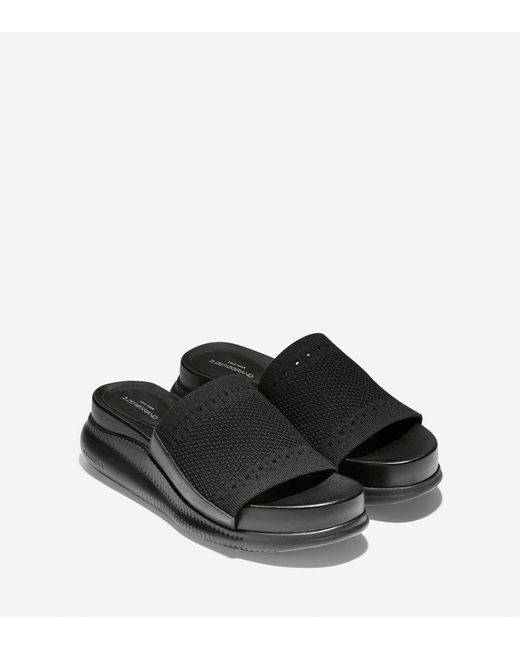 cfd36a6f72321 ... Cole Haan - Black Women s 2.zerøgrand Slide Sandal With Stitchlitetm ...