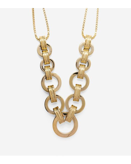 Cole Haan | Metallic Put A Ring On It Chunky Statement Necklace | Lyst
