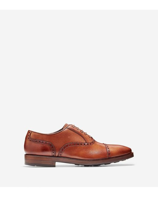 Cole Haan | Brown Hamilton Grand Cap Toe Oxford for Men | Lyst