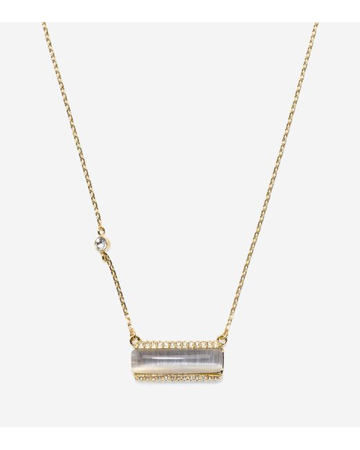 Cole Haan | Metallic Cats Eye On You Swarovski Solitaire Necklace | Lyst
