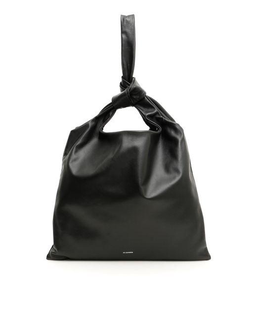 Jil Sander Black Knot Detail Shoulder Bag