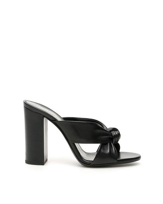 Saint Laurent Black Bianca Mules