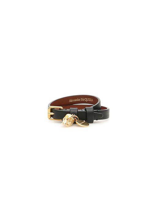 Alexander McQueen Brown Thin Skull Bracelet