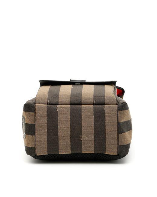 3cfc5031200f ... Fendi - Multicolor Ff Striped Canvas Backpack for Men - Lyst ...
