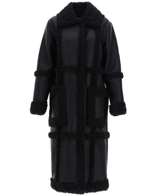 CAPPOTTO PATRICE IN ECO-SHEARLING di STAND in Black