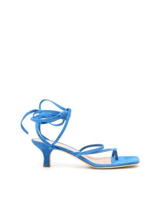Paris Texas Blue Suede Sandals