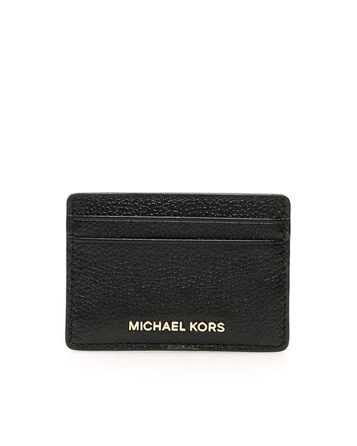 MICHAEL Michael Kors Black Jet Set Card Holder
