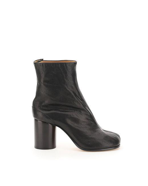 Maison Margiela Black Tabi Leather Boots