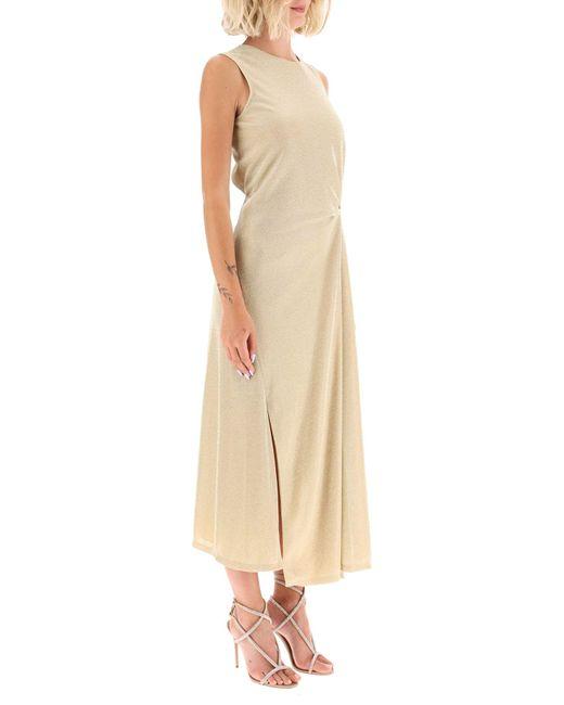 Lanvin Metallic Lurex Draped Dress