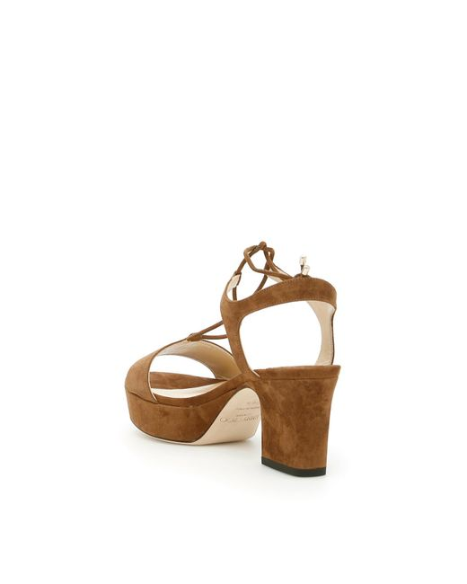 b51bbd96f0537a ... Jimmy Choo - Multicolor Suede Belize 65 Sandals - Lyst ...