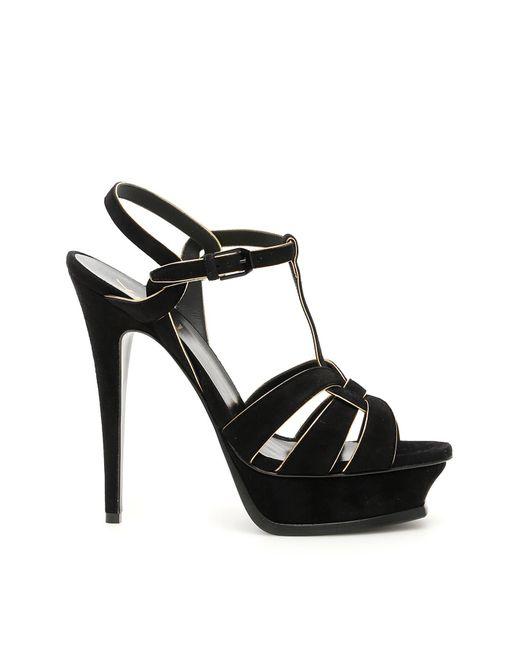 Saint Laurent Black 'tribute' Sandals