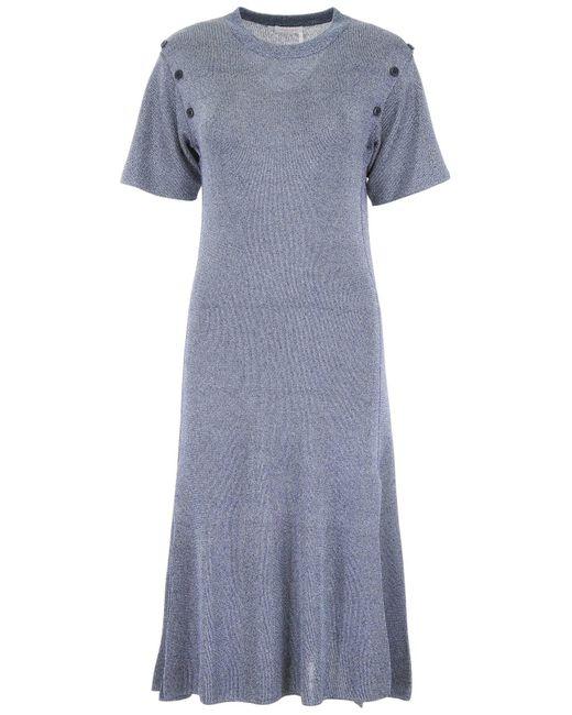 See By Chloé Blue Knit Dress