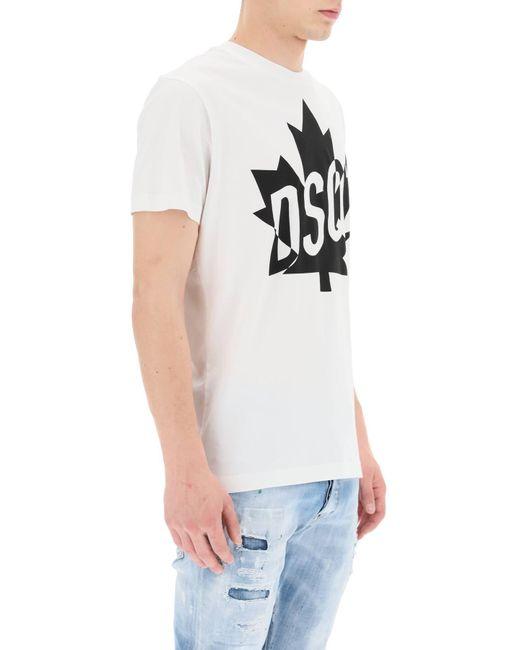 DSquared² White Dsq2 Milano Print T-shirt for men