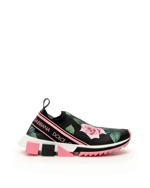 SNEAKER ATLETICA RUNNING MAGLINA STAMPA ROSE di Dolce & Gabbana in Multicolor