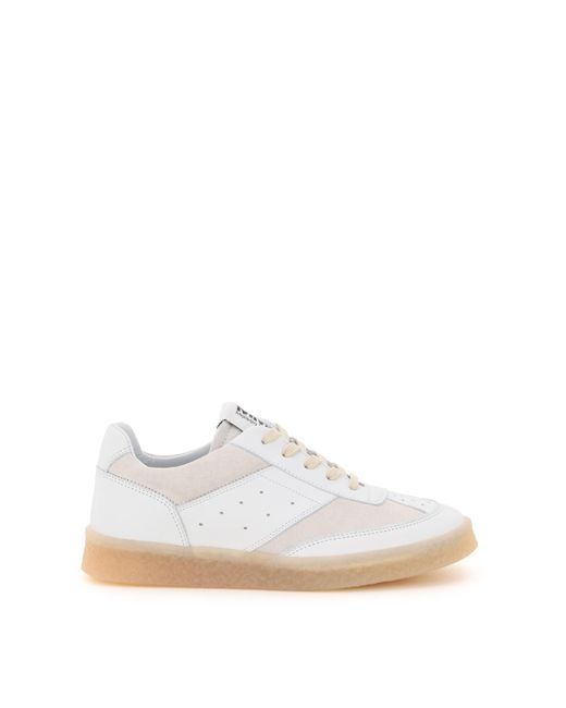 MM6 by Maison Martin Margiela White Sneakers 36 Leather