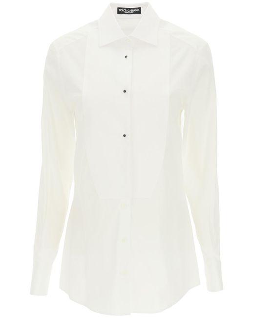 Dolce & Gabbana White Panelled Shirt