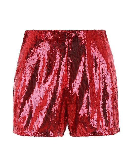 Philosophy Red Sequins Shorts