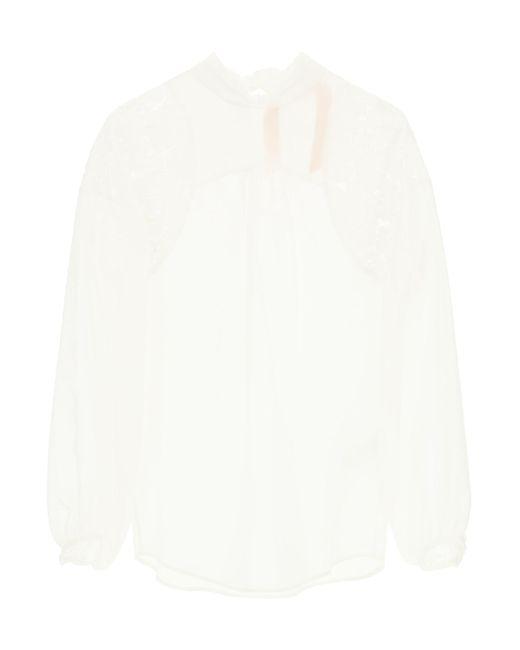 N°21 White Ruff Blouse 40 Cotton