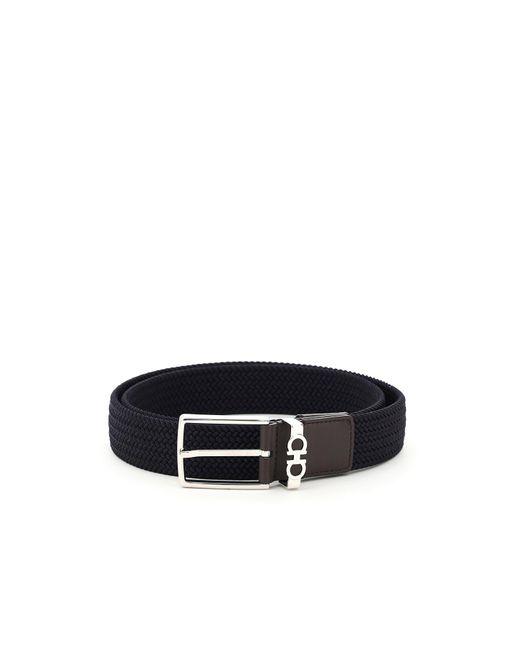 Ferragamo Multicolor Strings & Tassel Elastic Belt for men