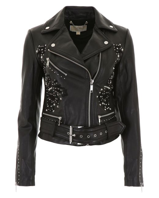 MICHAEL Michael Kors - Black Leather Jacket - Lyst