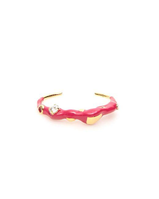 Marni Pink Metal And Enamel Cuff Bracelet