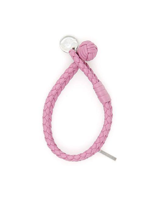 Bottega Veneta Purple Woven Nappa Bracelet