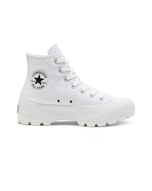 Converse White Chuck Taylor All Star Lugged - Hi